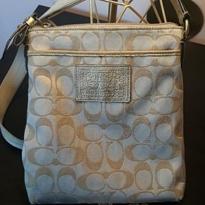 Authentic Coach Poppy Collection Gold Crossbody